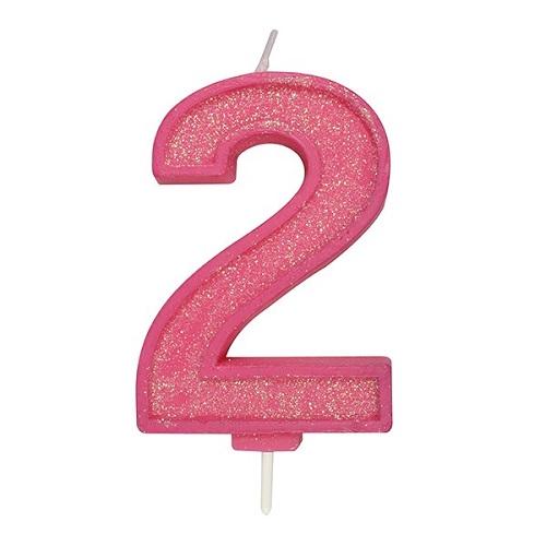 Afbeelding van Culpitt Cijferkaars #2 Roze met Glitter