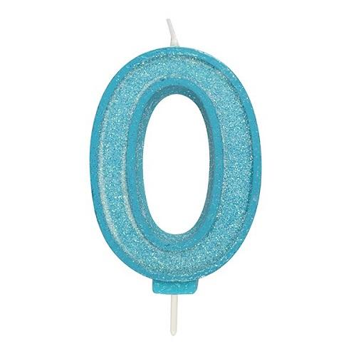 Afbeelding van Culpitt Cijferkaars #0 Blauw met Glitter