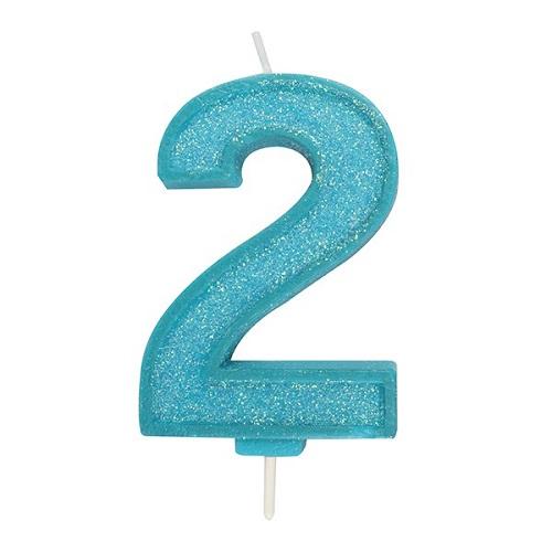 Afbeelding van Culpitt Cijferkaars #2 Blauw met Glitter