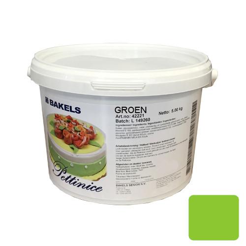 Afbeelding van Rolfondant Bakels Groen 5kg (Pettinice)