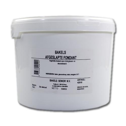 Afbeelding van Bakels Glaceerfondant (afgeslapte fondant) Wit 15 kg