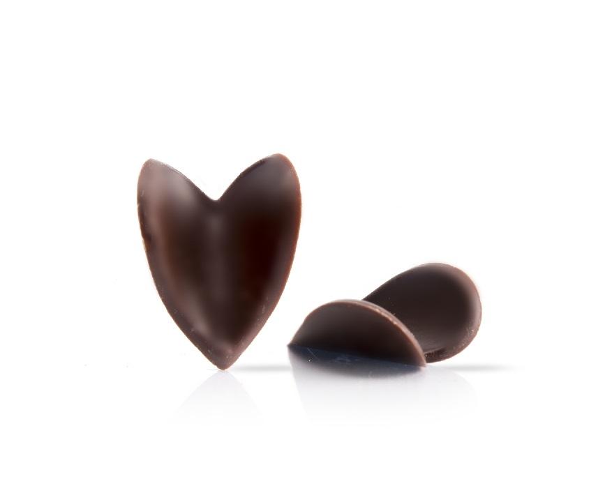 Afbeelding van Dobla Chocoladedecoratie Curvy Heart Donker (144 stuks)