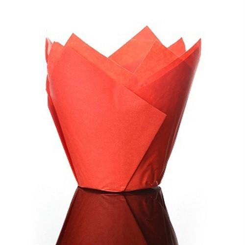 Afbeelding van Culpitt baking cups tulp rood 85 mm (50 stuks)