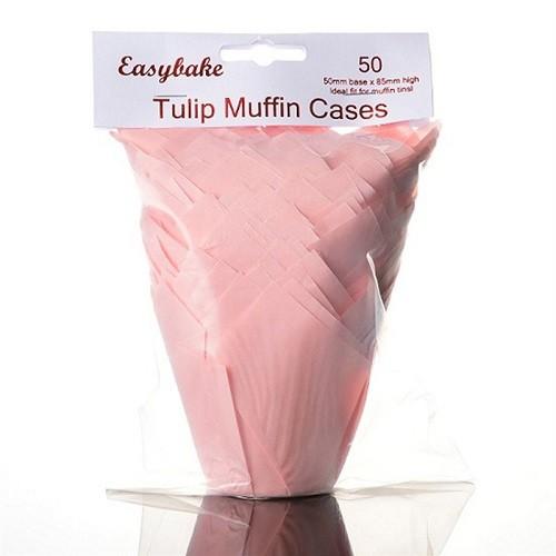 Afbeelding van Culpitt baking cups tulp roze 85 mm (50 stuks)