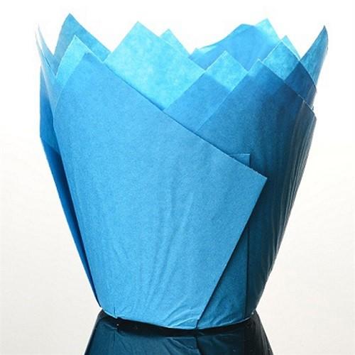 Afbeelding van Culpitt baking cups tulp blauw 85 mm (50 stuks)