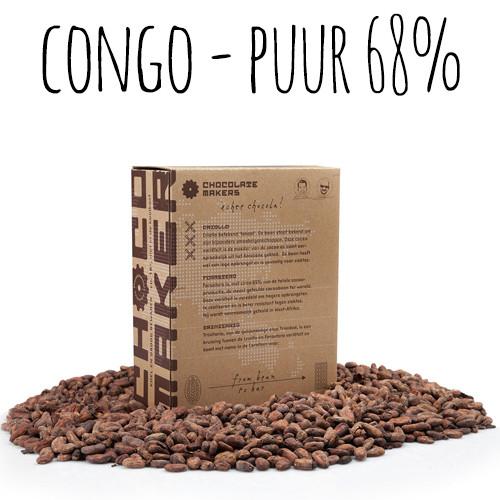 Afbeelding van ChocolateMakers Biologische Couverture Virunga Puur 68% 2kg