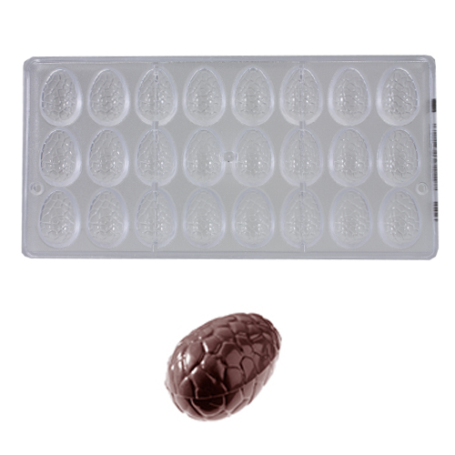 Afbeelding van Bonbonvorm Chocolate World Ei Kroko (24x) 35x23x12 mm