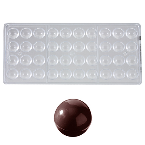Afbeelding van Bonbonvorm Chocolate World Bol (40x) Ø20 mm