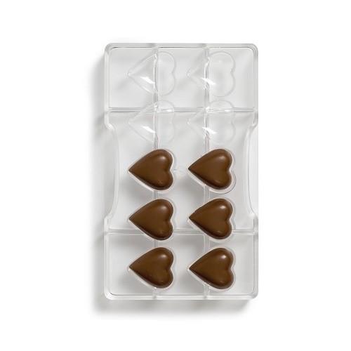 Afbeelding van Bonbonvorm Hartjes (10x) 32,5x35 mm