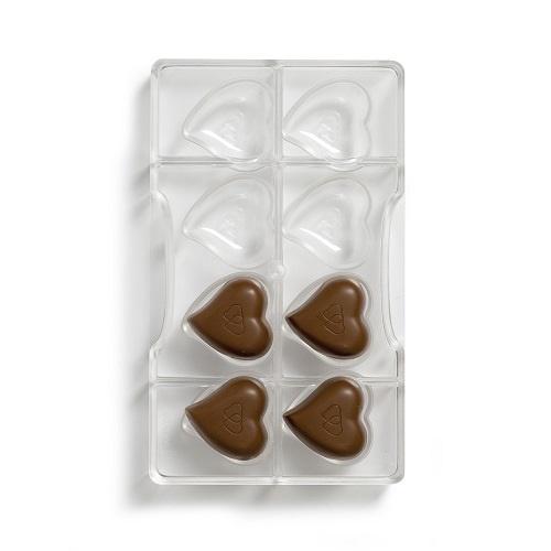 Afbeelding van Bonbonvorm Hartjes (8x) 39,7x39,2 mm