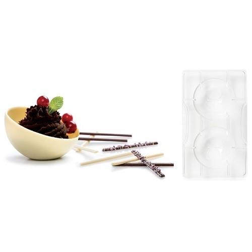 Afbeelding van Chocolade Holvorm Halve Bol (2x) Ø75 mm