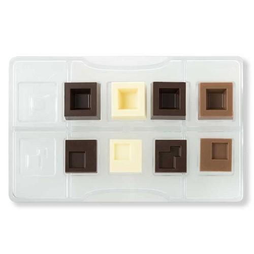 Afbeelding van Bonbonvorm Vierkant assortiment (10x) 15 30 mm