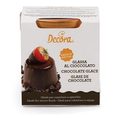 Afbeelding van Chocolade Glaze voor Spiegeleffect 250g