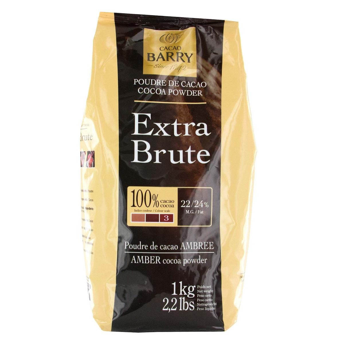 Afbeelding van Callebaut Cacaopoeder Extra Brute (Rood) 1kg
