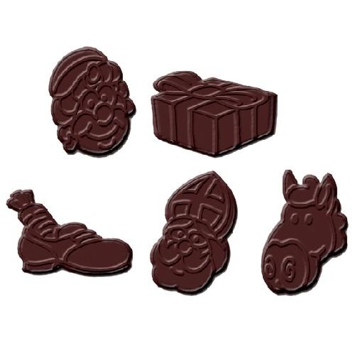 Afbeelding van Dobla Chocoladedecoratie Exclusief Sint (295 stuks)