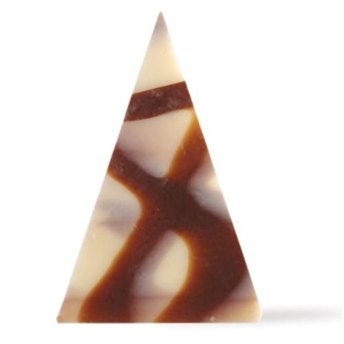 Afbeelding van Dobla Chocoladecoratie driehoek puur/wit (290 stuks)
