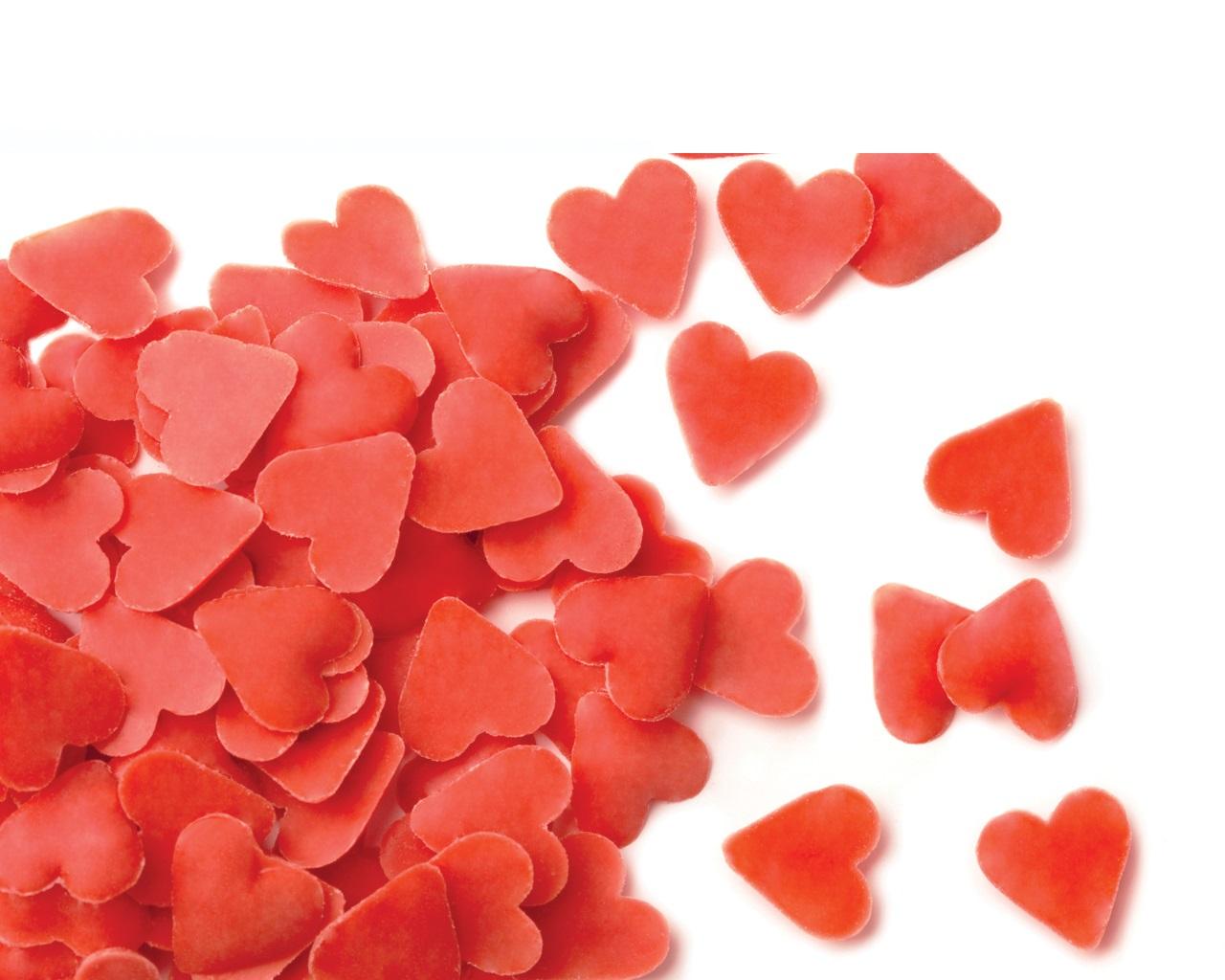Afbeelding van Dobla Chocoaldedecoratie Sprinkles Hartjes Rood 0,6kg