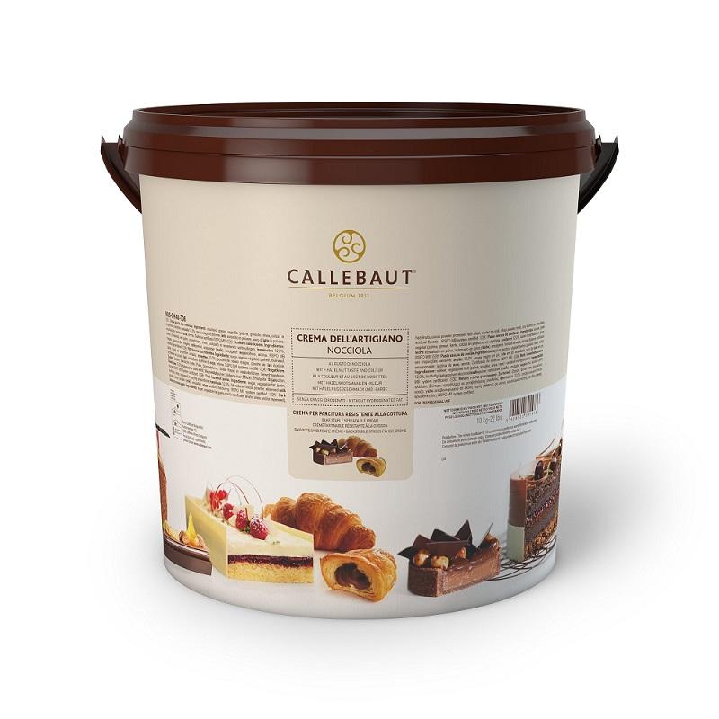 Afbeelding van Callebaut Bakvaste Hazelnootcremevulling (Nocciola) 10kg